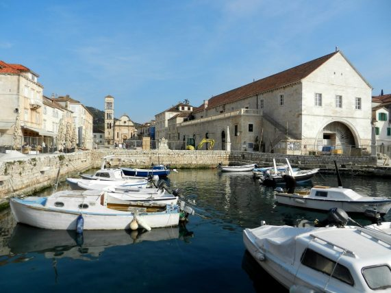St. Stephan's Square, Hvar, Dalmatia, Croatia