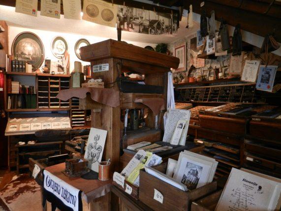 Printing Press room.