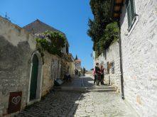 Craft sellers on the streets of Rovinj, Istria, Croatia