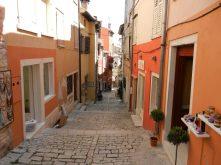 Shops on streets of Rovinj, Istria, Croatia