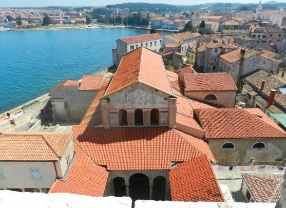 On top of the Euphrasian Basilica, Porec, Istria, Croatia