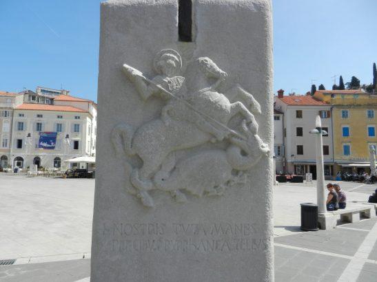 St George, Tartini Square, Piran, Slovenia
