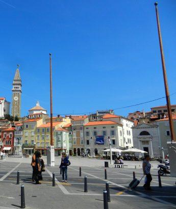 Two masts, Piran, Slovenia