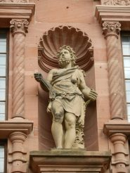 Statue of Samson in Heidelberg Castle, Germany
