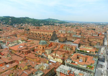 Bologna from Asinelli Tower, Italy