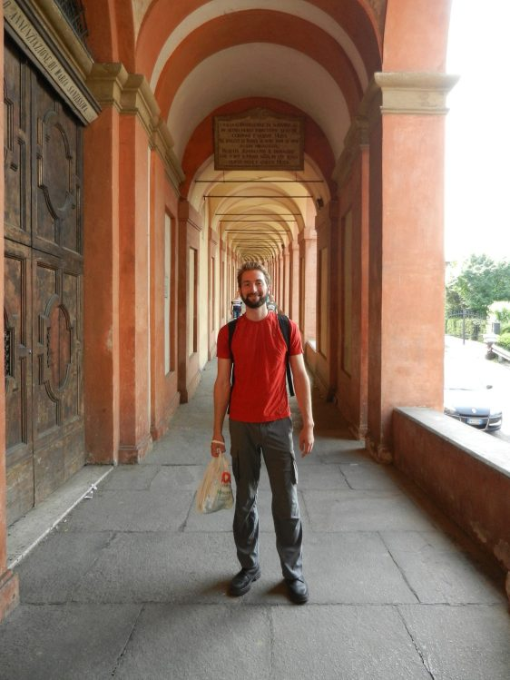 Nathanael on a pilgrimage to Sanctuary of the Madonna di San Luca, Bologna, Italy