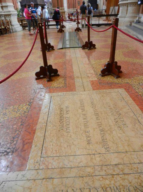 Meridian Line, Basilica di san Petronio, Bologna, Italy