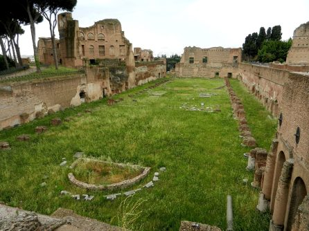Stadium in the Domus Augustana, Palatine hill, Rome, Italy