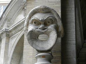 Mask, Oval Courtyard, Vatican, Italy
