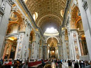 Inside St. Peter's Basilica, Vatican, Italy