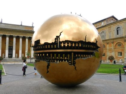 Sphere within a Sphere, Pinecone Courtyard, Vatican, Italy