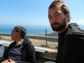Hitchhiking, Nathanael, Michael, Mohos, Crete, Greece