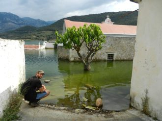 Sfendily flooded village, Crete, Greece.