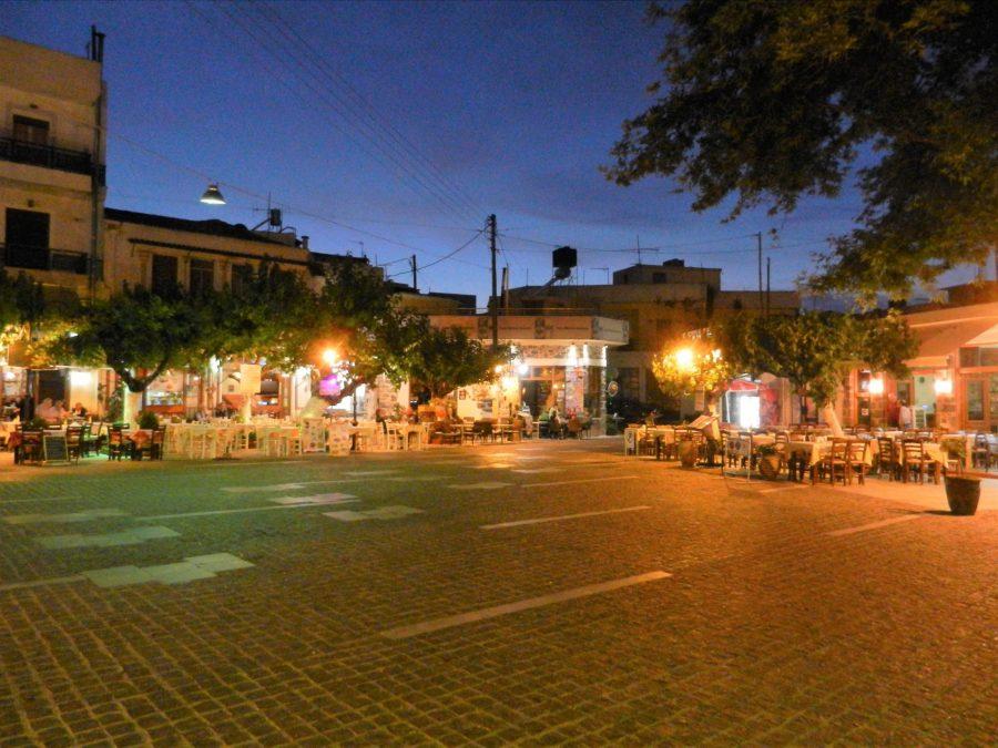 Mohos Main Square, Crete, Greece
