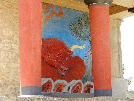 Charging Bull, Knossos, Crete, Greece