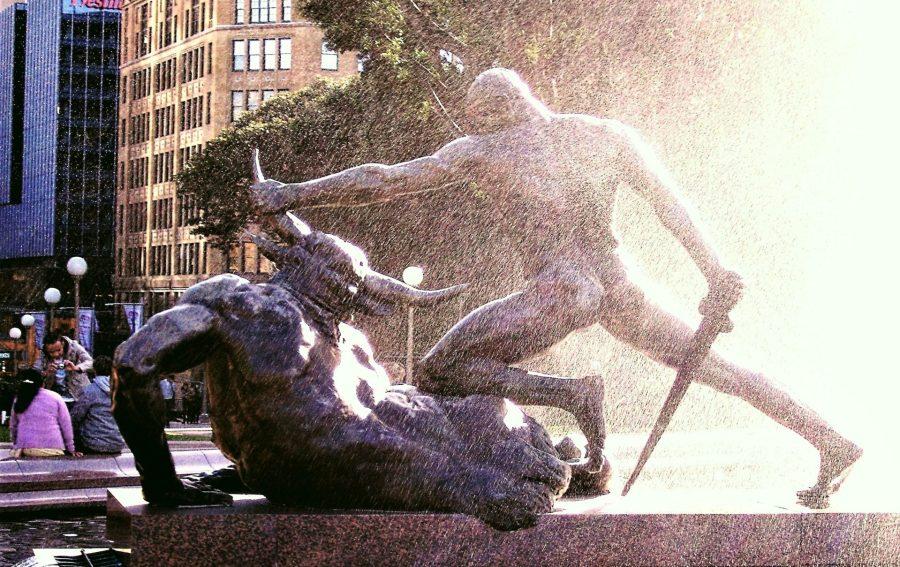 Theseus and the Minotaur, Archibald Fountain, Hyde Park, Sydney, Australia