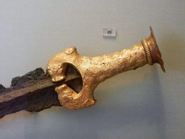 Gold Sword Hilt, National Archaeological Museum, Athens, Greece