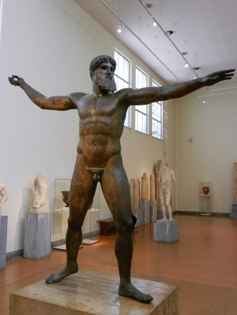 Statue of Zeus, National Archaeological Museum, Athens, Greece