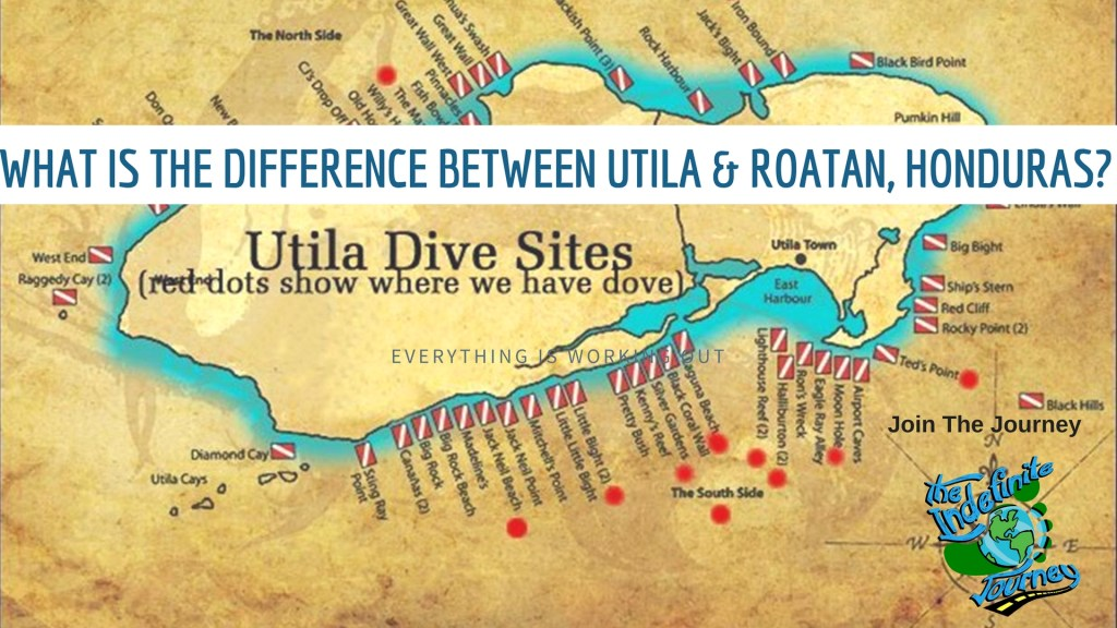 What Is The Difference Between Utila and Roatan, Honduras_
