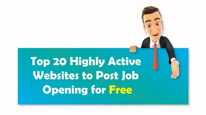 top 20 free job posting sites  highly active