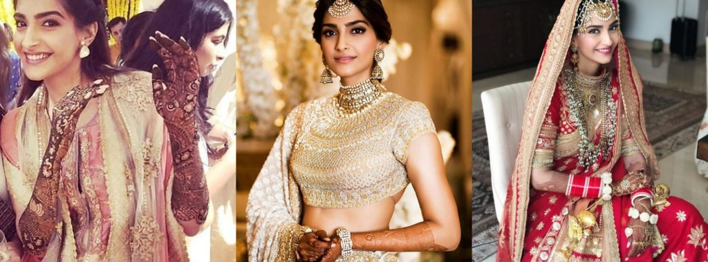 Sonam Kapoor Wedding Outfits The Indian Beauty Blog
