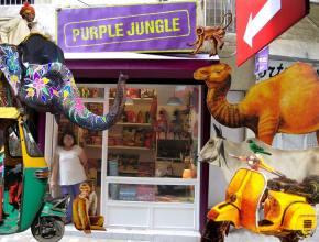 Purple Jungle, l'une des boutiques, entre kitsch et couleurs de l'Inde