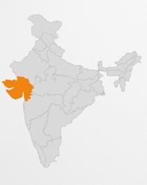 Gujarat map of India