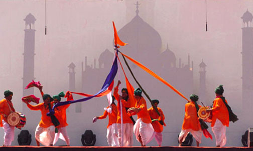Maharashtrian cultural dance: DHANGIRI during the 3rd Commonwealth Youth Games-2008, in Pune on October 14, 2008.