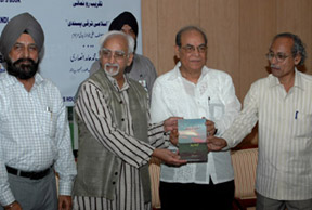 "The Vice President, Shri Mohd. Hamid Ansari releasing the book titled ""Islami Taraqqi Pansandi"", authoured by late Shri Ali Jawad Zaidi, at a function, organised by Zaidi Foundation, in New Delhi on July 15, 2008."