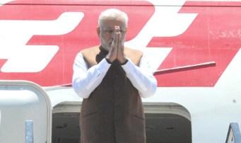 The Prime Minister, Shri Narendra Modi arrives at Brisbane, Australia for G20 summit on November 14, 2014.