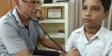 Dr Ashok Saini,renowned pediatrician.