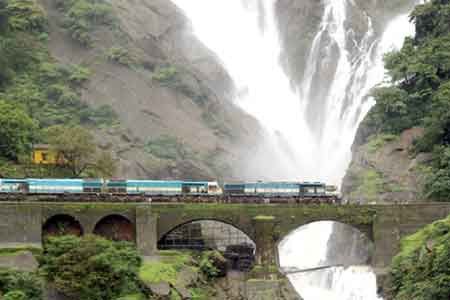 Dudhsagar Waterfall in Goa