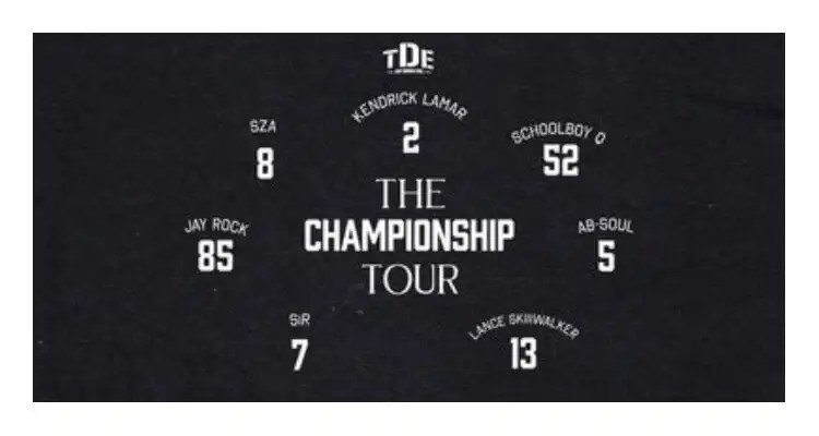 Top Dawg Entertainment Announces TDE: The Championship Tour