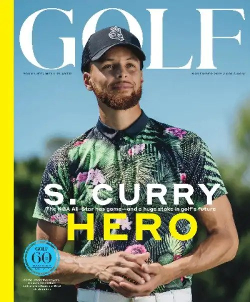 Stephen Curry Featured on 60th Anniversary Issue of GOLF Magazine