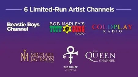 New Streaming Channels with Music's Legendary and Game-Changing Artists Launches on SiriusXM