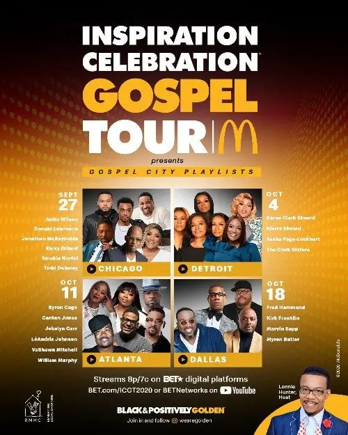 The 14th Annual McDonald's Inspiration Celebration Gospel Tour Returns