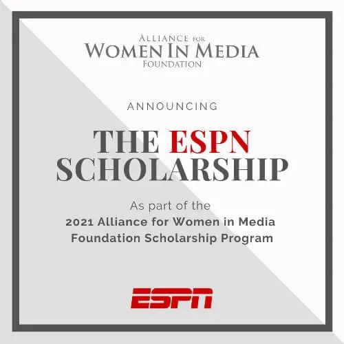 Alliance for Women in Media Foundation & ESPN Launch Scholarship