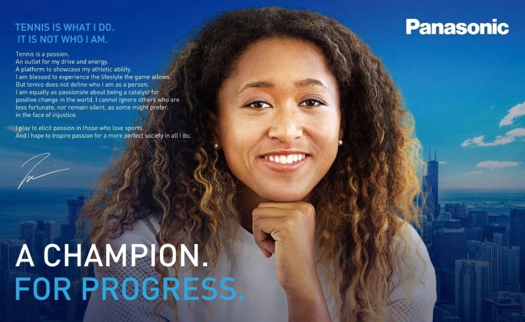 Panasonic Signs Naomi Osaka as Brand Ambassador