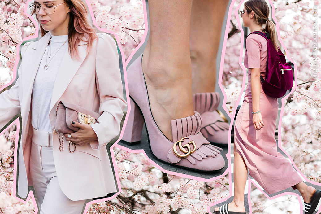 Fashion Week Street Style Trend Pink Cherry Blossom
