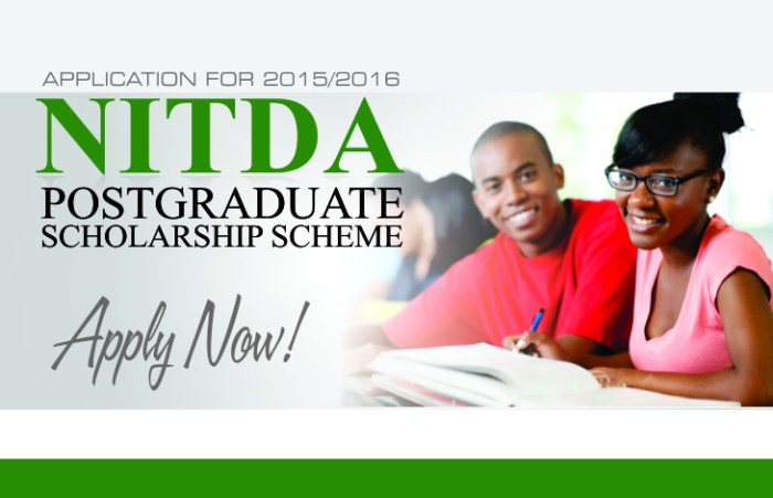 NITDA Postgraduate Scholarship For Masters And Ph.D