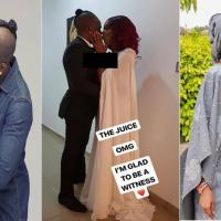 Juliet Ibrahim and Iceberg Slim wed in court (Photo)