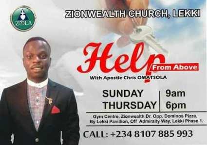Apostle Chris Omatsola, Zionwealth Church