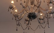 Our cut crystal chandelier
