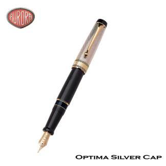 Aurora Optima Silver Cap Fountain Pen
