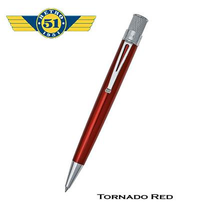 Retro51 Tornado Red Roller Pen