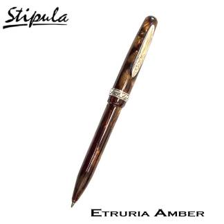 Stipula Etruria Amber Celluloid Ball Pen