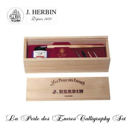 J Herbin Ink Pearl Calligraphy Set