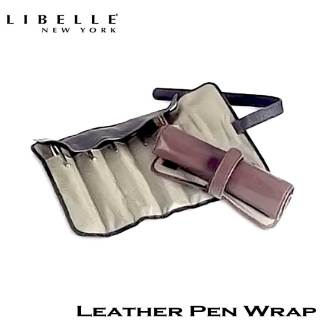 Libelle Black Leather Pen Wrap