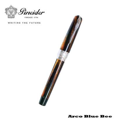 Pineider Arco Blue Bee Fountain Pen Closed