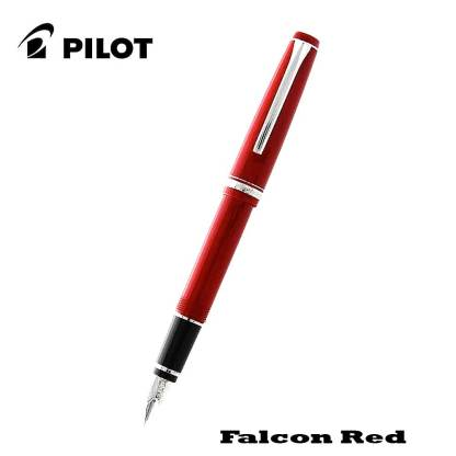 Pilot Falcon Red Fountain Pen Open